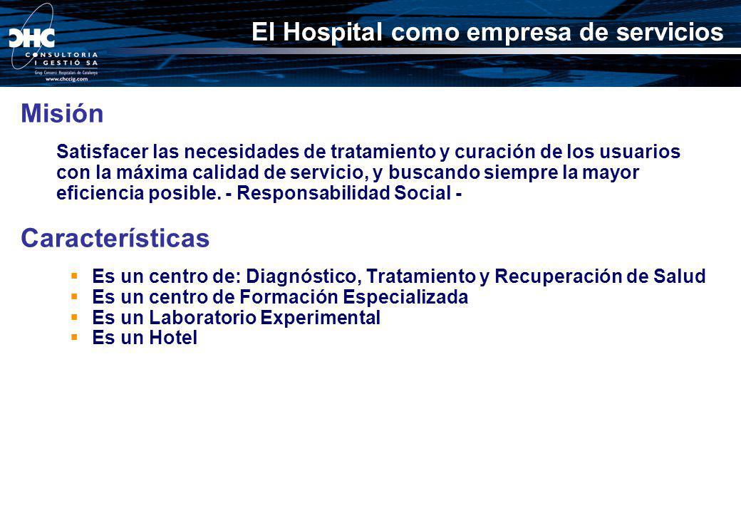 Misión Satisfacer las necesidades de tratamiento y curación de los usuarios con la máxima calidad de servicio, y buscando siempre la mayor eficiencia