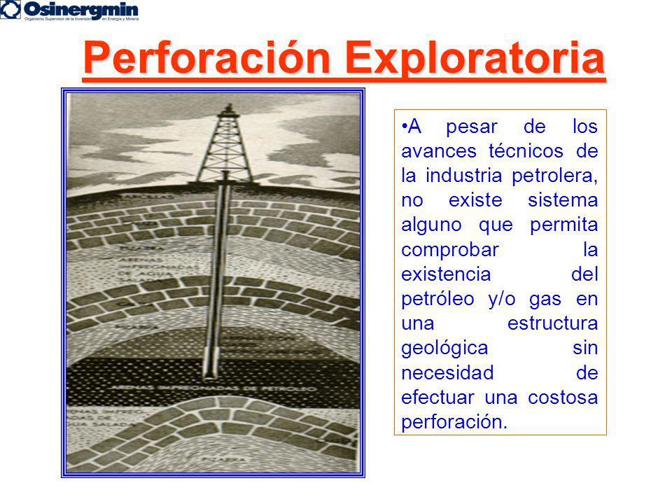 Perforación Exploratoria A pesar de los avances técnicos de la industria petrolera, no existe sistema alguno que permita comprobar la existencia del p