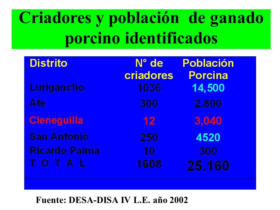VIGILANCIA Y CONTROL DE CRIANZAS INFORMALES DE GANADO PORCINO Dirección Ejecutiva de Salud Ambiental M.V. Dante Vara Márquez Área de zoonosis - DSBHAZ