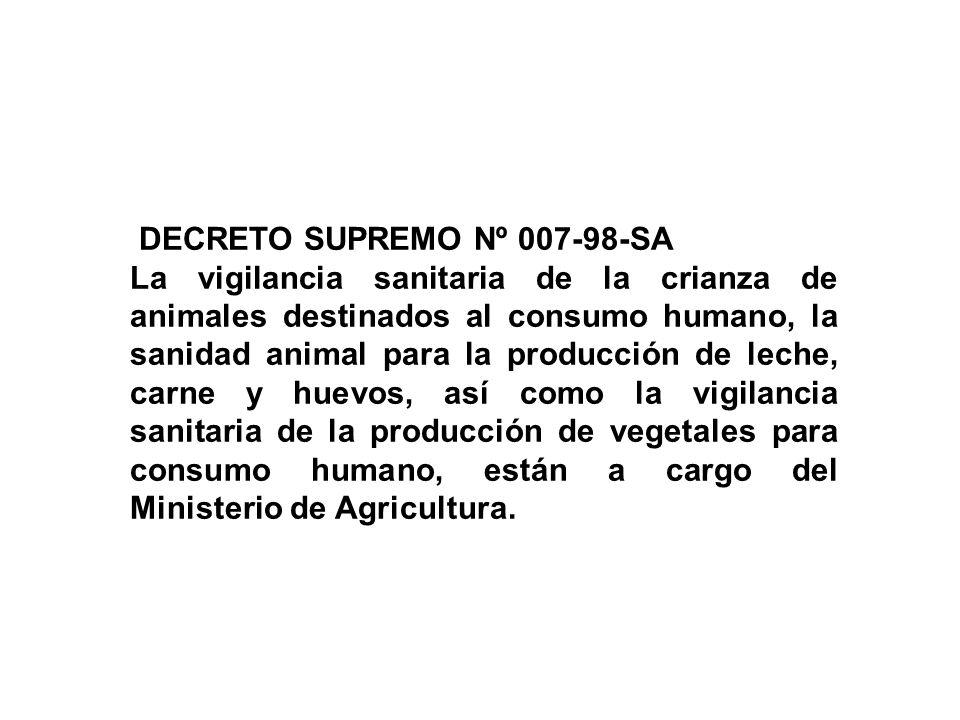 MINISTERIO DE AGRICULTURA - SENASA PIENSOS PRODUCCION Y PROCESAMIENTO PRIMARIO Producción primaria: desde la Crianza de animales hasta el sacrificio P