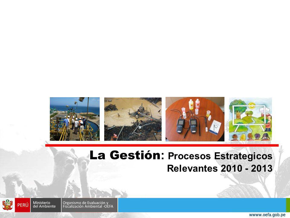 La Gestión : Procesos Estrategicos Relevantes 2010 - 2013