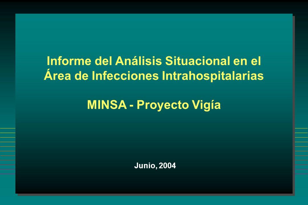 Informe del Análisis Situacional en el Área de Infecciones Intrahospitalarias MINSA - Proyecto Vigía Junio, 2004