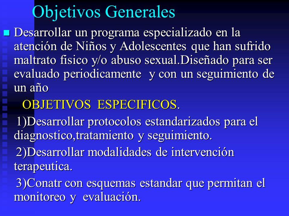 PROBLEMA Niño/ adolescente con maltrato físico y/o abuso sexual necesita una atención integral y estructurada.