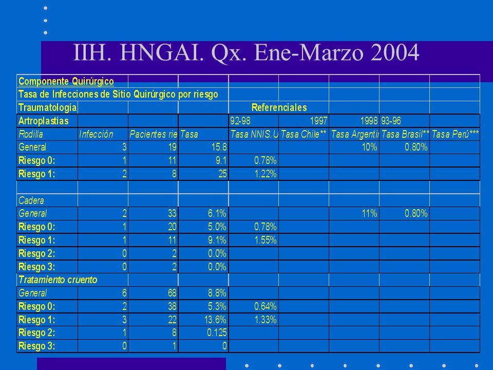 IIH. HNGAI. Qx. Ene-Marzo 2004