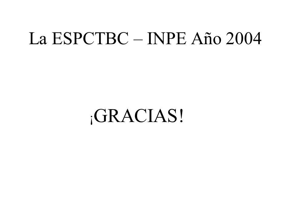 La ESPCTBC – INPE Año 2004 ¡ GRACIAS!