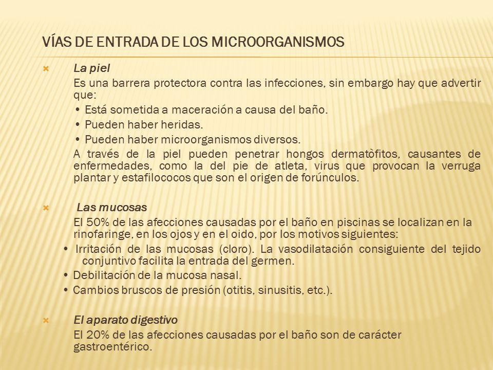 VÍAS DE ENTRADA DE LOS MICROORGANISMOS La piel Es una barrera protectora contra las infecciones, sin embargo hay que advertir que: Está sometida a mac