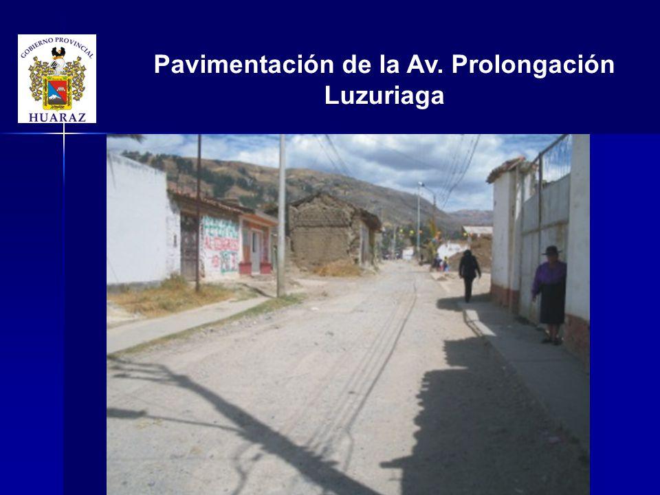 Pavimentación de la Av. Prolongación Luzuriaga