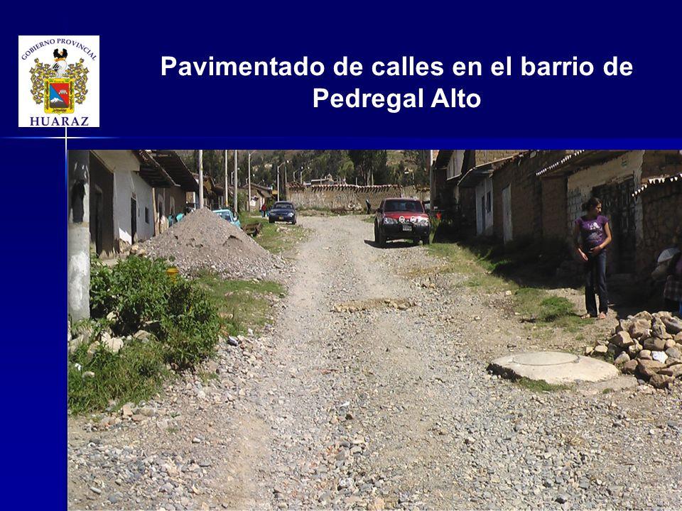 Pavimentado de calles en el barrio de Pedregal Alto