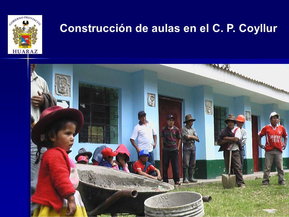 Construcción de aulas en el C. P. Coyllur