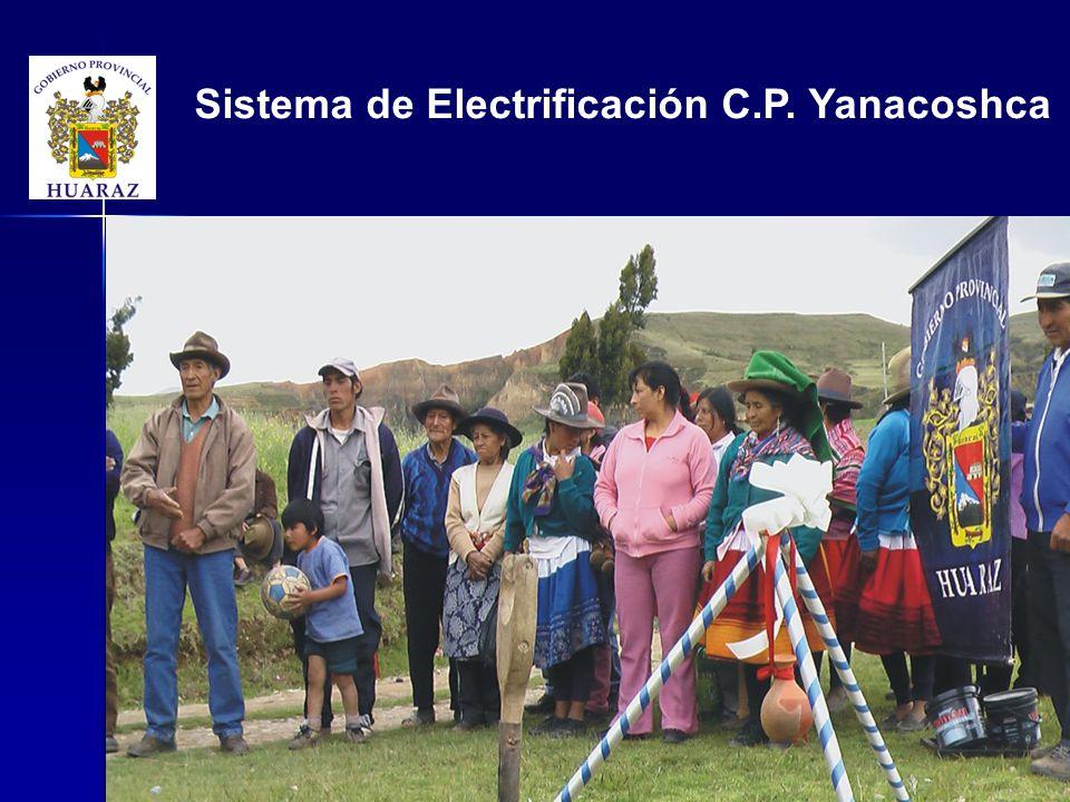 Sistema de Electrificación C.P. Yanacoshca