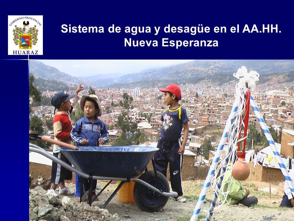 Sistema de agua y desagüe en el AA.HH. Nueva Esperanza
