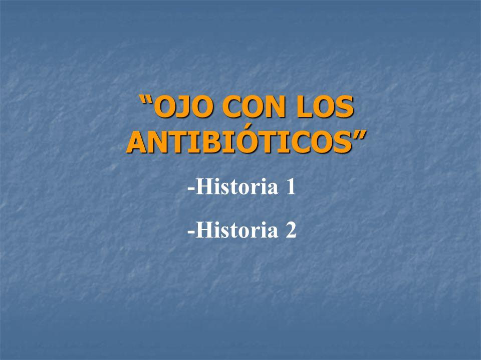 OJO CON LOS ANTIBIÓTICOS -Historia 1 -Historia 2
