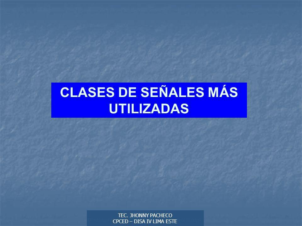 Autor: Didier Sibaja Descarga ofrecida por: www.prevention-world.com CLASES DE SEÑALES MÁS UTILIZADAS TEC.