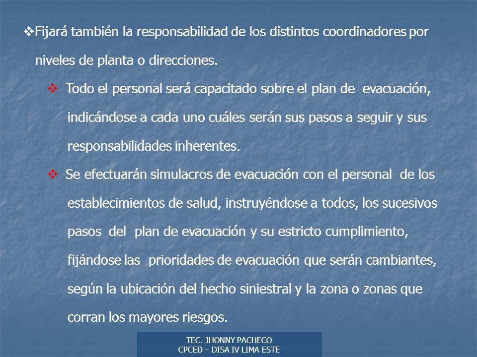 Autor: Didier Sibaja Descarga ofrecida por: www.prevention-world.com Fijará también la responsabilidad de los distintos coordinadores por niveles de planta o direcciones.