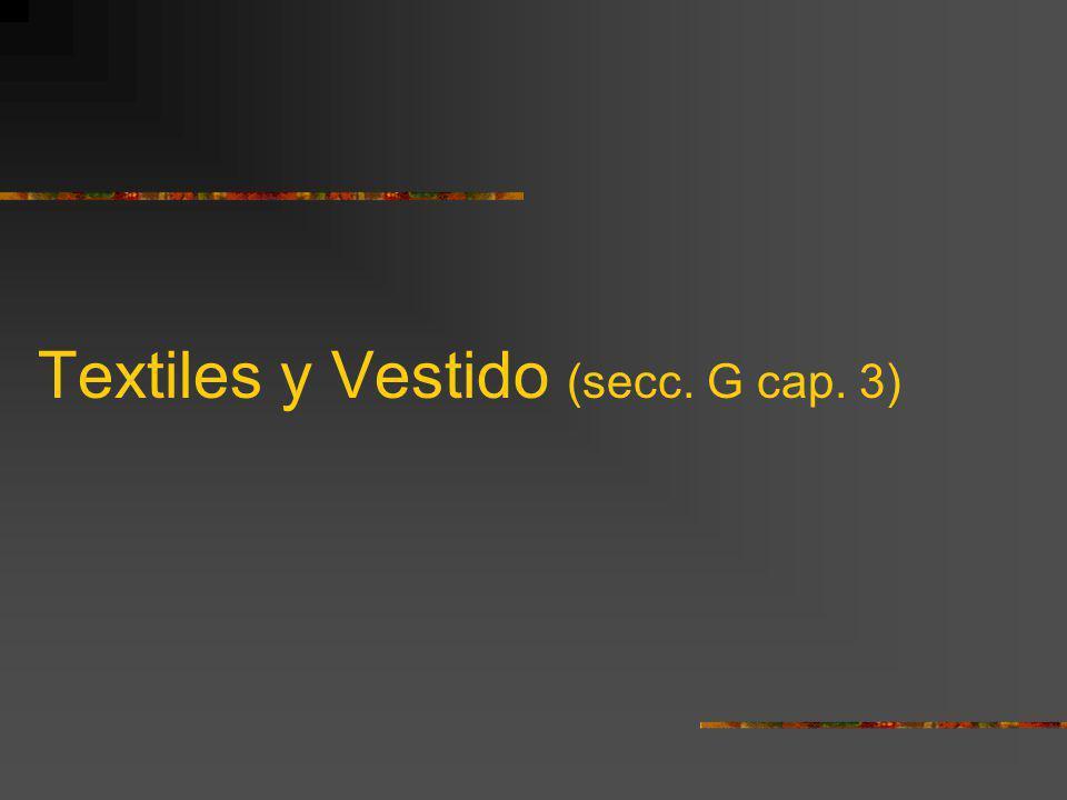 Textiles y Vestido (secc. G cap. 3)