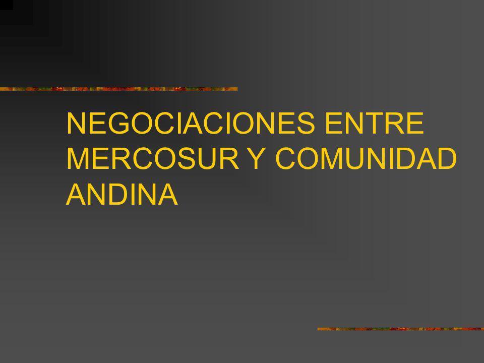 NEGOCIACIONES ENTRE MERCOSUR Y COMUNIDAD ANDINA