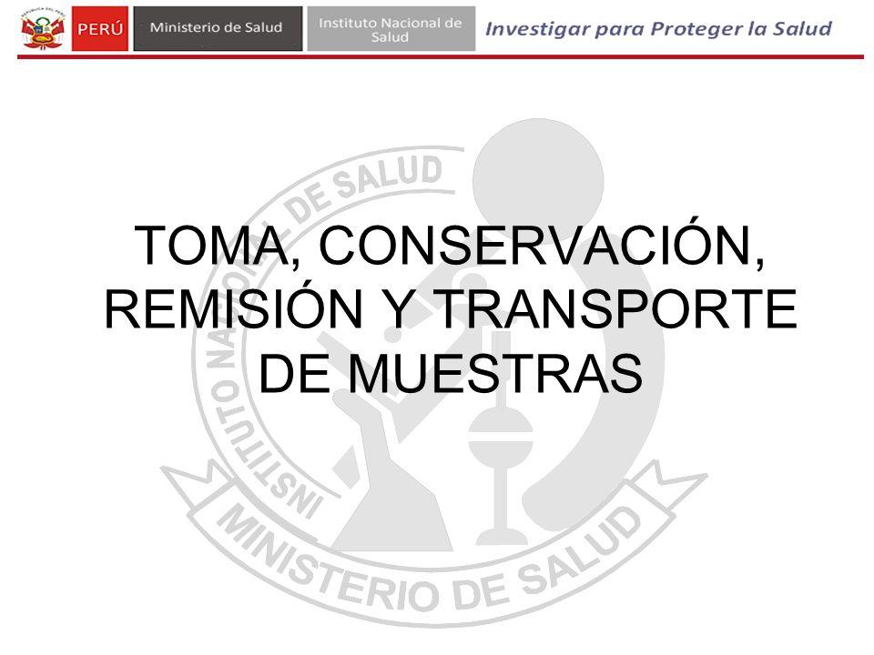 TOTAL DE MUESTRAS REMITIDAS AL INS PARA DIAGNÓSTICO DE RABIA, Perú, 2010 - 2013 2010201120122013 TODAS LAS REGIONES 264428153478831* * Hasta el 23-04-13