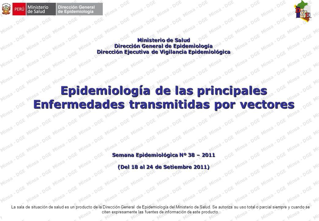 FUENTE : MINSA – DGE – RENACE Hasta la SE 38 - 2011 Casos de dengue por semanas epidemiológicas, Perú 2011 (a la SE 38)