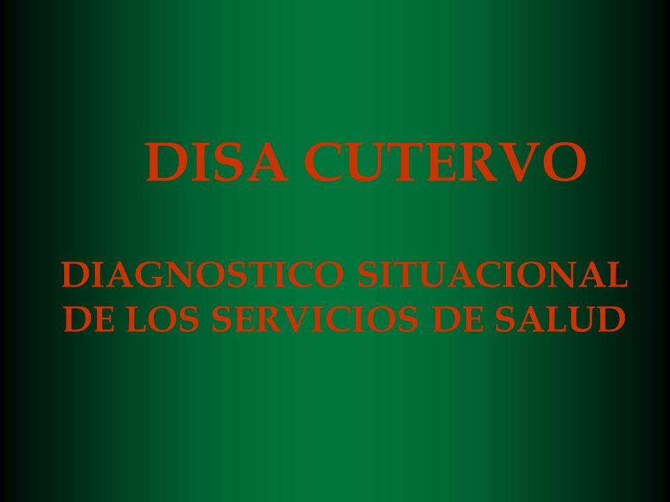 DISA CUTERVO DIAGNOSTICO SITUACIONAL DE LOS SERVICIOS DE SALUD