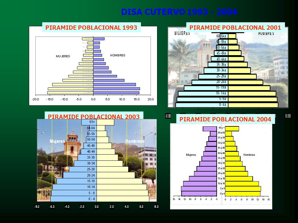 DISA CUTERVO 1993 - 2004 PIRAMIDE POBLACIONAL 2001PIRAMIDE POBLACIONAL 1993 PIRAMIDE POBLACIONAL 2003 PIRAMIDE POBLACIONAL 2004