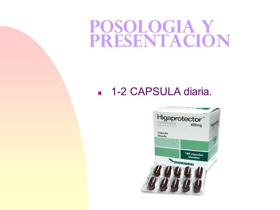 USOS CLINICOS n Cirrosis hepática Cirrosis hepática n Discinesia tardía Discinesia tardía n Niveles elevados de homocisteína Niveles elevados de homoc