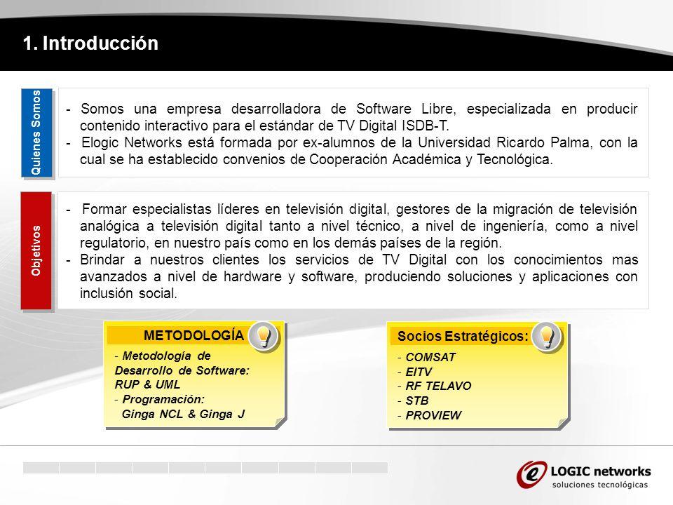 1. Introducción - Formar especialistas líderes en televisión digital, gestores de la migración de televisión analógica a televisión digital tanto a ni