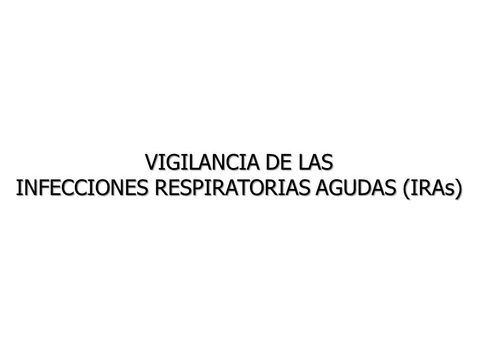 VIGILANCIA DE LAS INFECCIONES RESPIRATORIAS AGUDAS (IRAs)