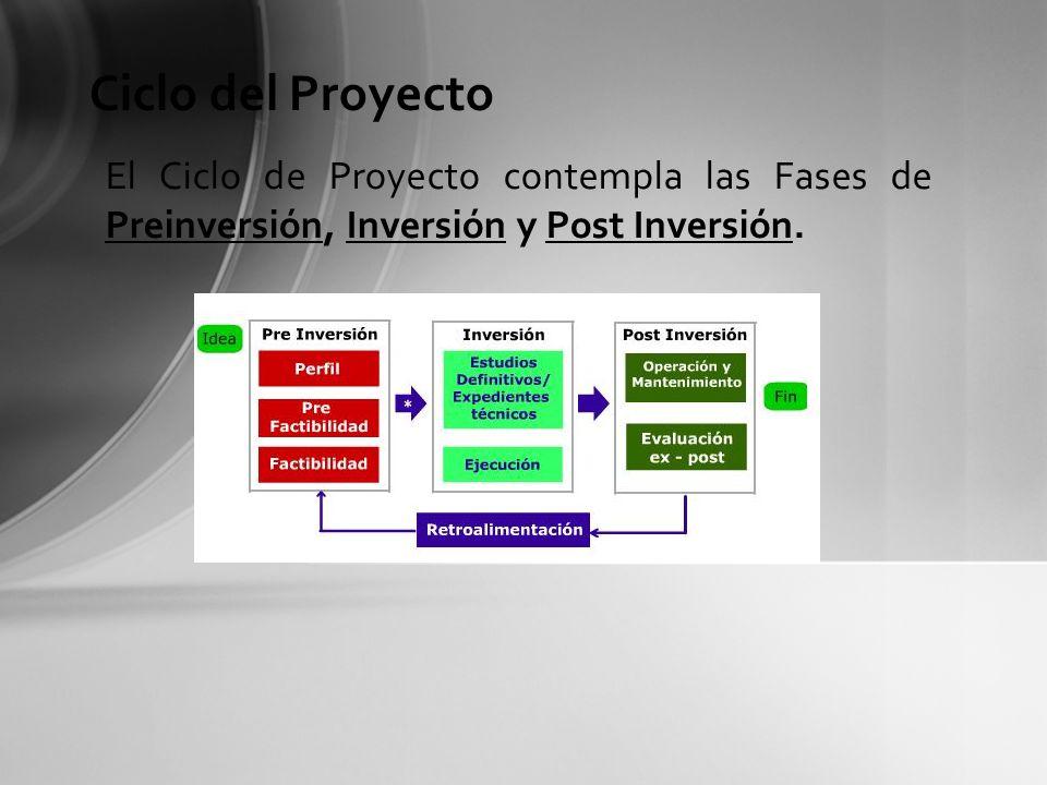 Durante la Fase de Preinversión de un proyecto se identifica un problema determinado y luego se analizan y evalúan -en forma iterativa- alternativas de solución que permitan encontrar la de mayor rentabilidad social.