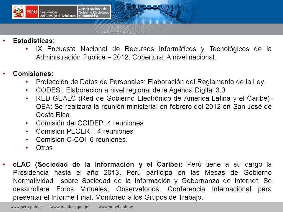 www.peru.gob.pe www.tramites.gob.pe www.ongei.gob.pe Proyecto Gobierno Móvil: Implementación del servicio de SMS de Constitución de Empresas Implement