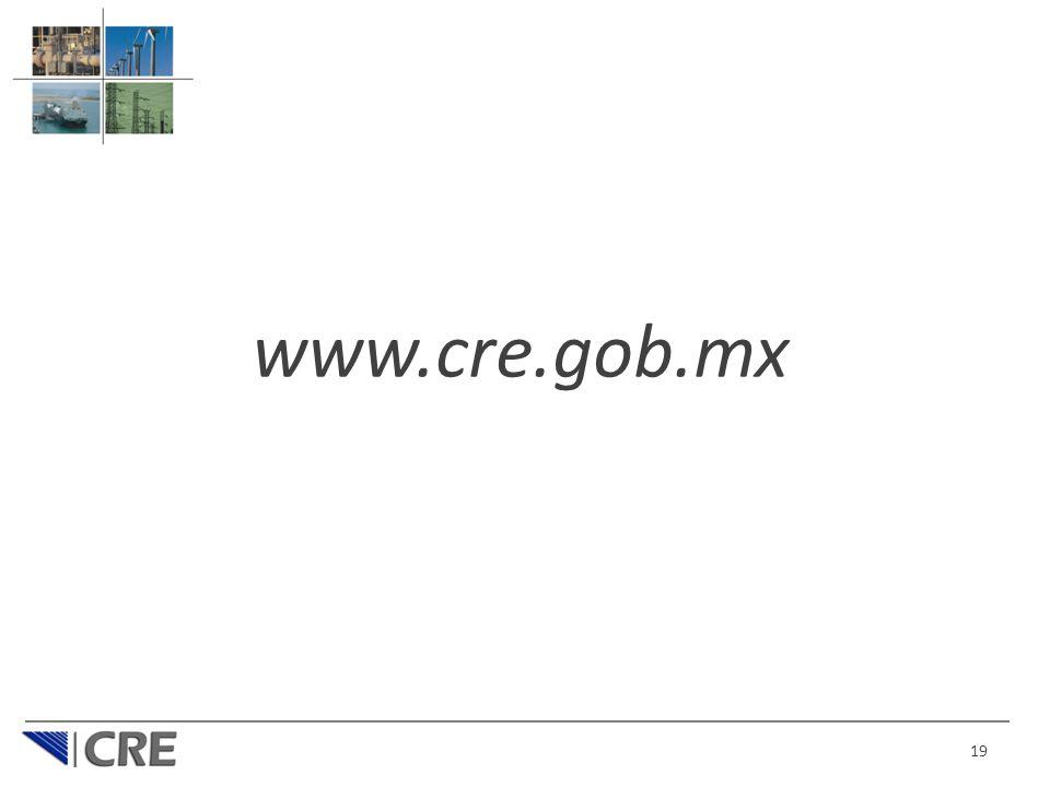 19 www.cre.gob.mx
