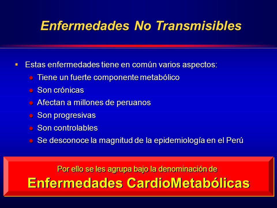 Estas enfermedades tiene en común varios aspectos: Estas enfermedades tiene en común varios aspectos: Tiene un fuerte componente metabólico Tiene un f