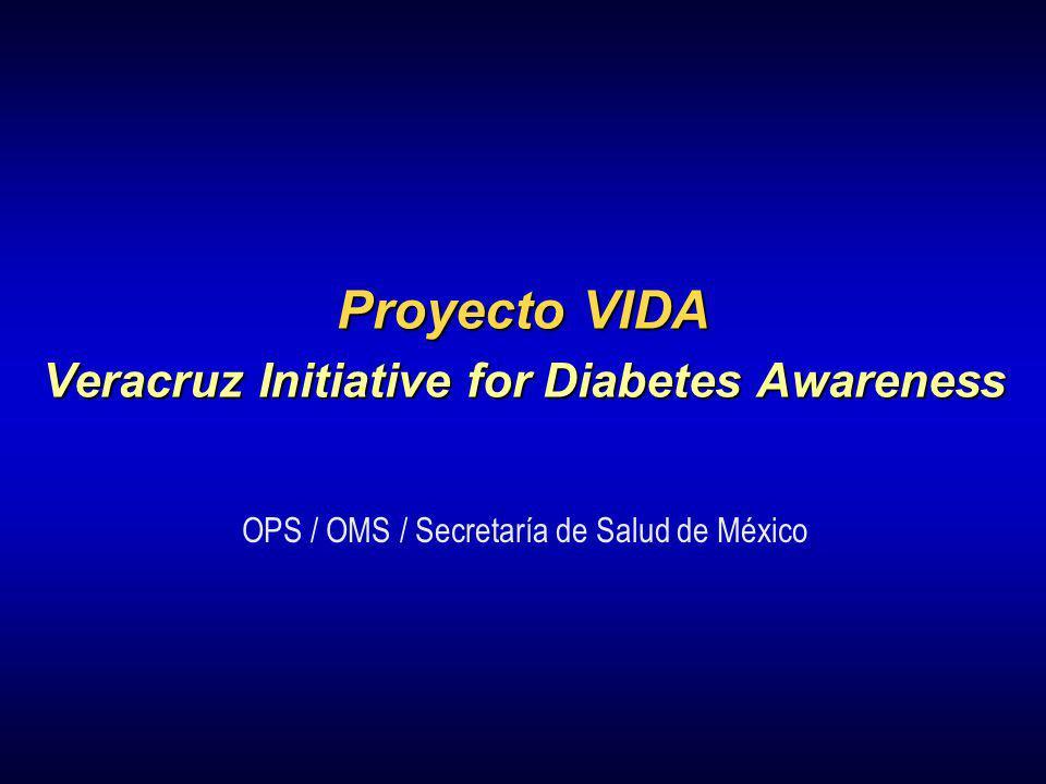Proyecto VIDA Veracruz Initiative for Diabetes Awareness OPS / OMS / Secretaría de Salud de México