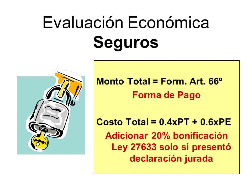 Bonificaciones BIENES Y SERVICIOS Adicionar veinte por ciento (20%) - Ley 27633 solo si presentó declaración jurada OBRAS Adicionar diez por ciento (1