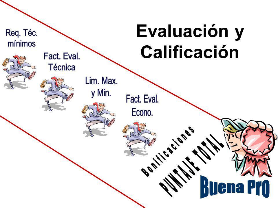 Evaluación Económica Servicios y Consultorias Verificar. Art. 33º del TUO Aplicación de la formula Ponderación por C2 Resultado : Puntaje de Evaluació