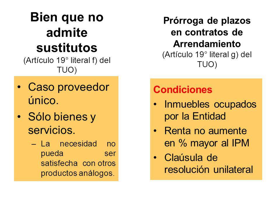 Servicio Exterior (Art. 19° literal e) del TUO y Art. 110° del Reg.) Contrataciones y adquisiciones que realicen las Misiones Permanentes del Servicio