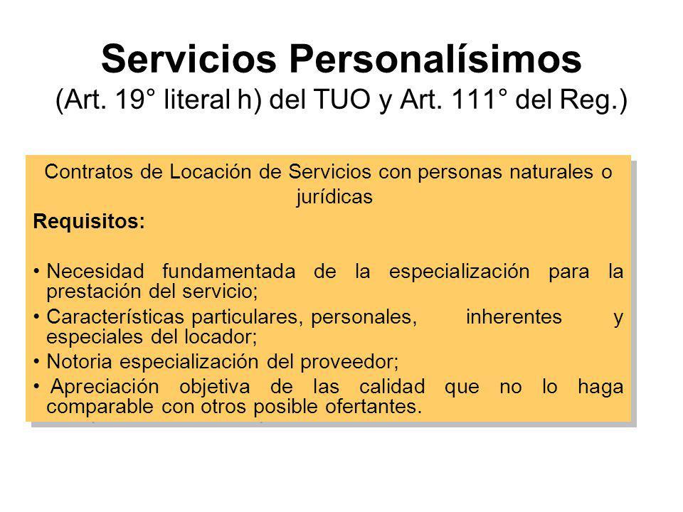 Bien que no admite sustitutos (Artículo 19° literal f) del TUO) Caso proveedor único. Sólo bienes y servicios. –La necesidad no pueda ser satisfecha c