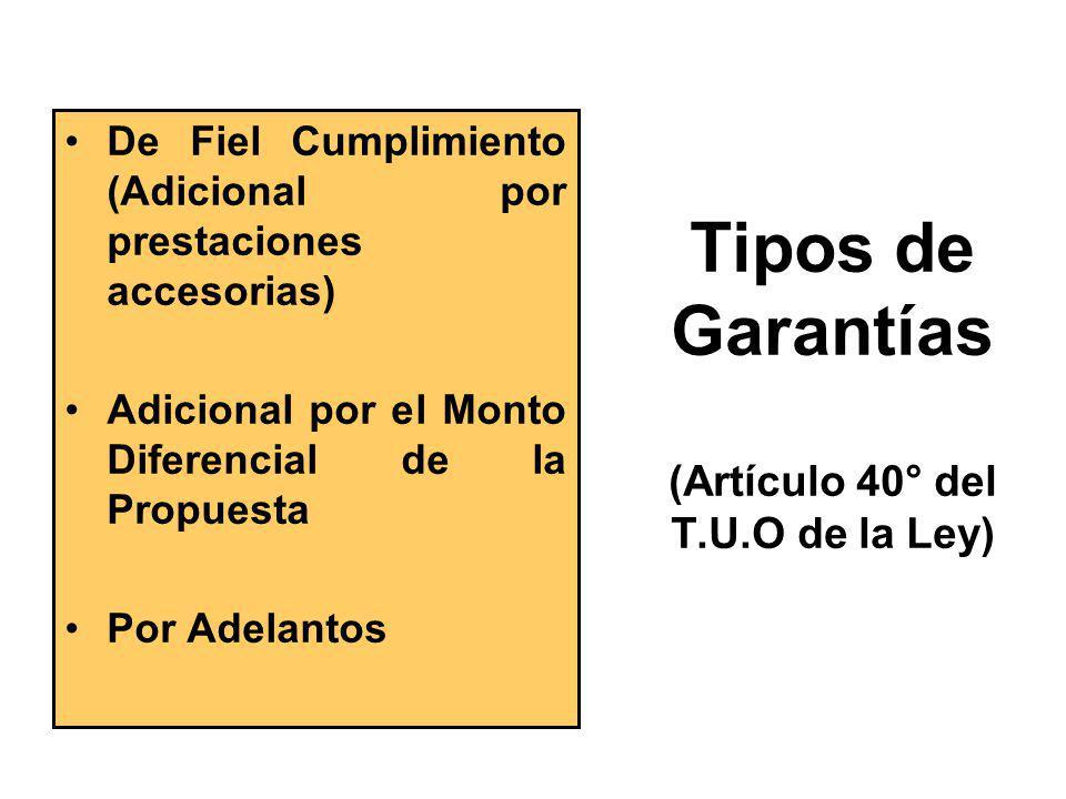 Documentos de Garantía (Artículo 121° del Reglamento) Otorgados por terceros a favor de Entidad por cuenta del contratista: –Carta Fianza –Póliza de C