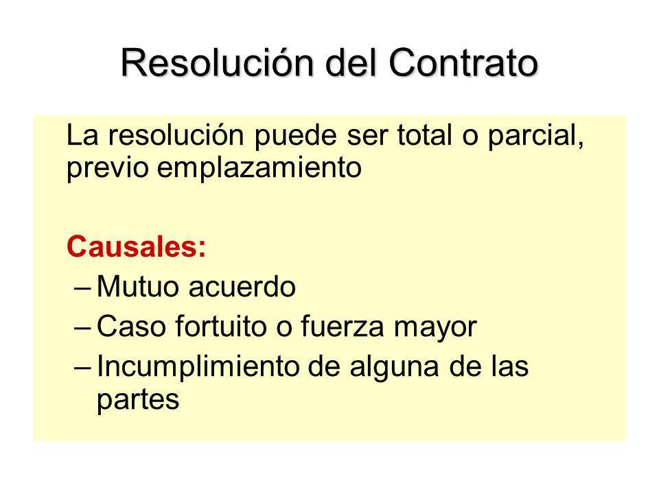 Cláusulas Obligatorias. Art. 41 del TUO. 1.- De Garantías 2.- De Solución de Controversias 3.- De Resolución de Contrato