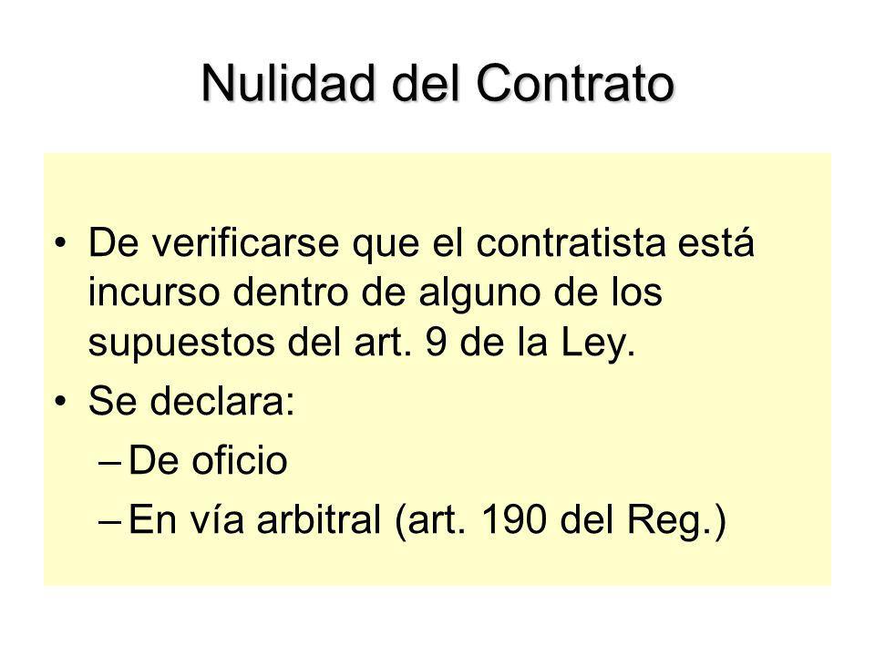 Liquidación del Contrato Procedimiento: Art.
