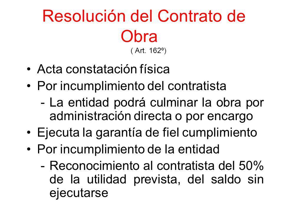 Intervención Económica de la Obra (Art. 161°) Resolución N° 010-2OO3 - CONSUCODE/PRE del 15/01/2003 (Pub.17/01/2003 ) De Oficio ó a solicitud de parte