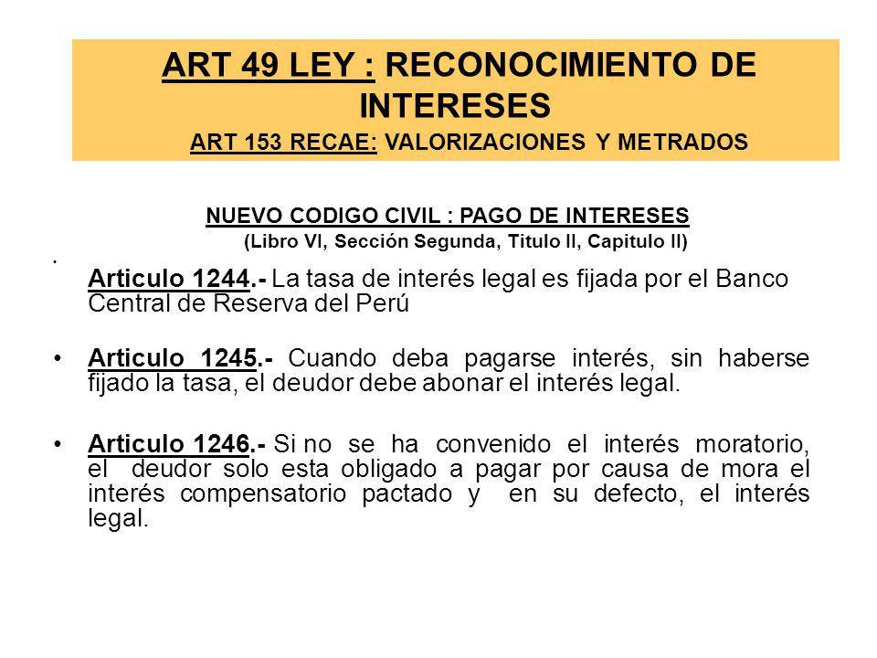 Resolución del Contrato de Obra ( Art. 162º) Acta constatación física Por incumplimiento del contratista -La entidad podrá culminar la obra por admini