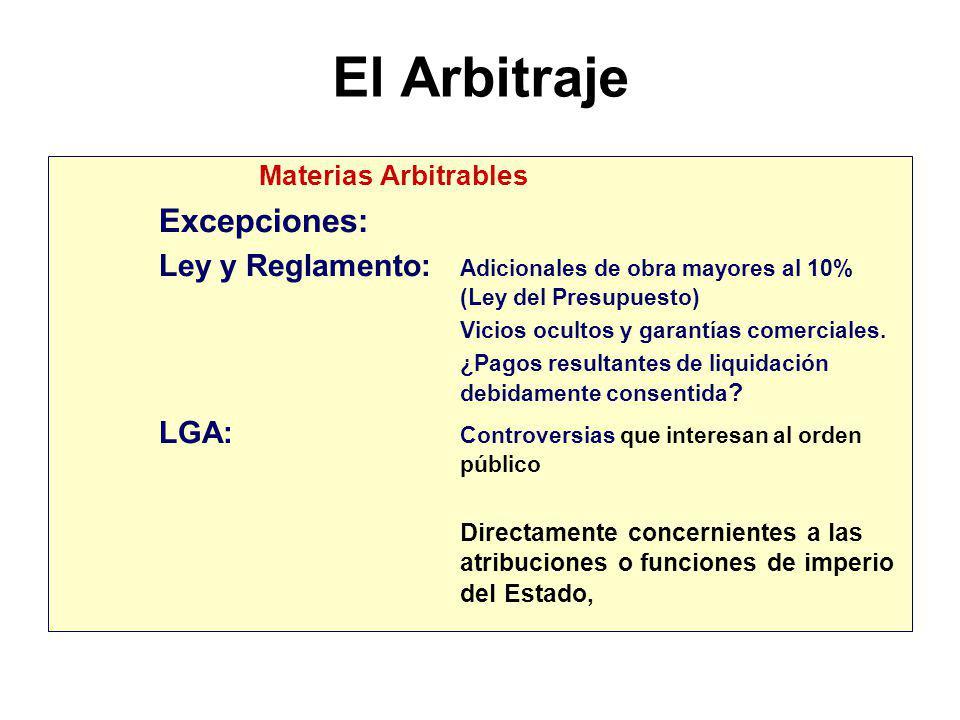 El Arbitraje Medio heterocompositivo o adjudicativo. Materias Arbitrables Las controversias surgidas en: La ejecución de los contratos. La interpretac