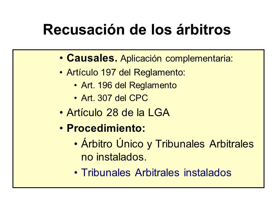 Designación del Tribunal Arbitral SOLICITANTE DESIGNA ARBITRO ARBITROS DESIGNAN PRESIDENTE EMPLAZADO DESIGNA ARBITRO EMPLAZADO NO DESIGNA ARBITRO SOLICITUD A CONSUCODE CONSUCODE DESIGNA FALTA ACUERDO DE ARBITROS SOLICITUD A CONSUCODE CONSUCODE DESIGNA 3 DIAS 5 DIAS 3 DIAS