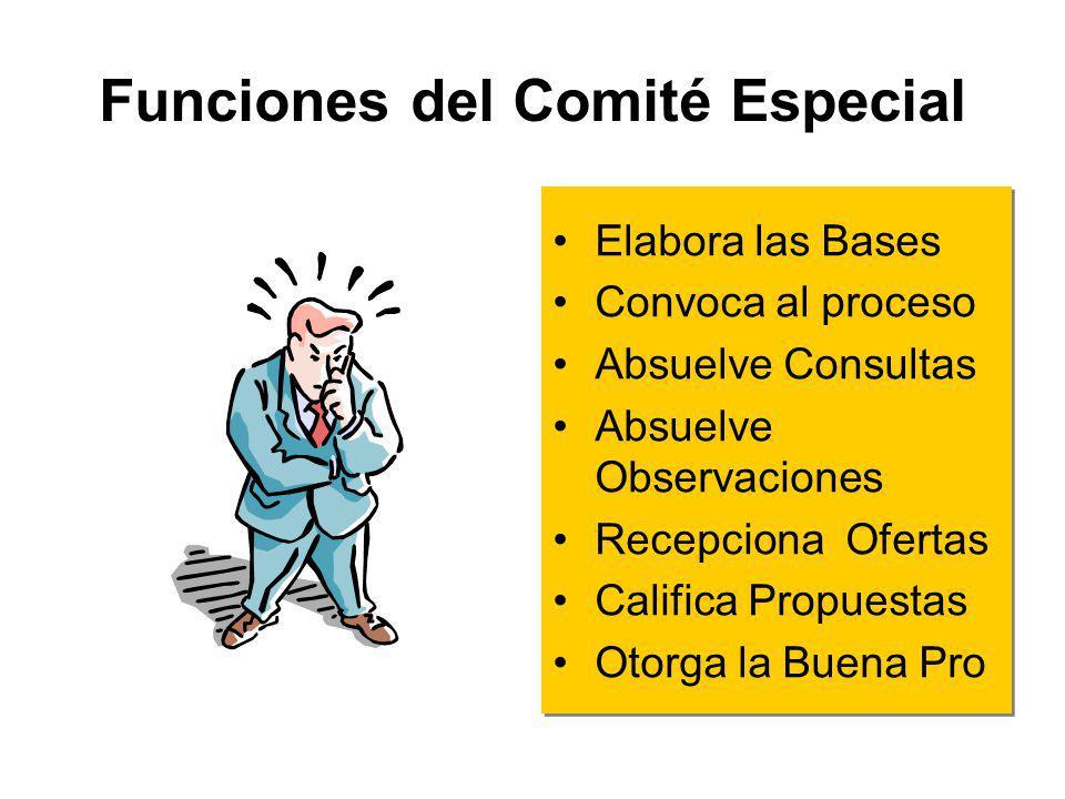 Definición Organo encargado de la conducción y ejecución de la integridad del proceso de selección desde la elaboración de Bases hasta que la Buena Pr