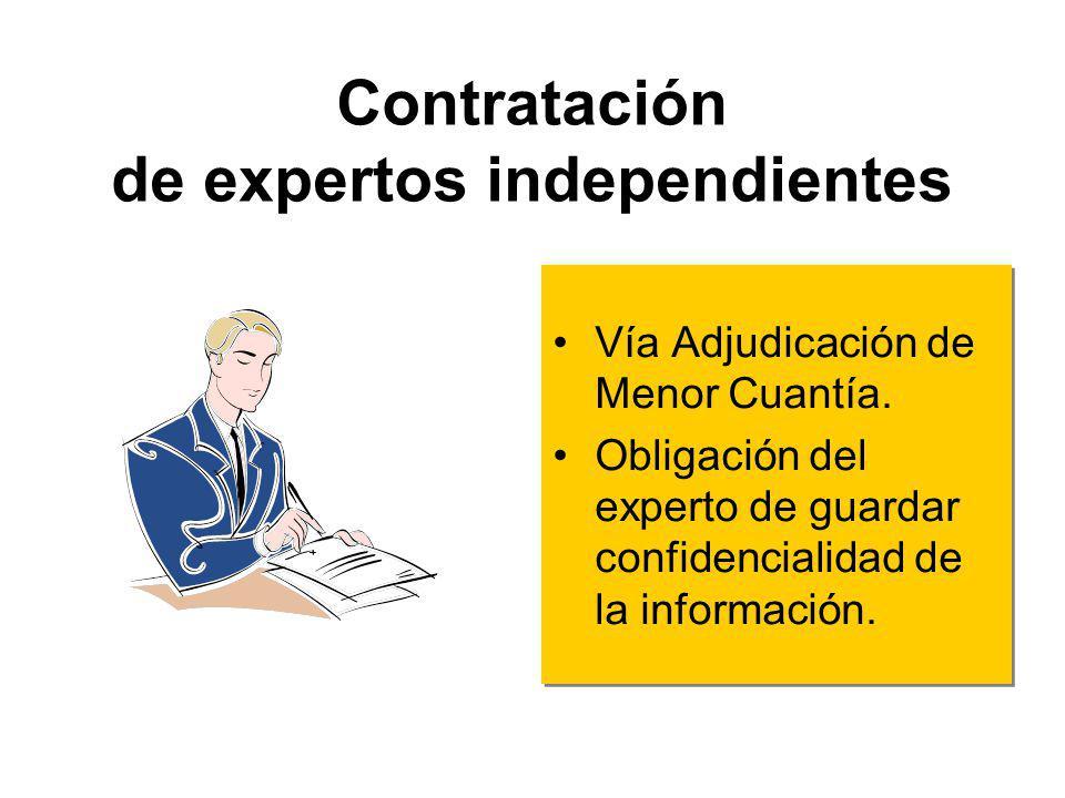 Regla Especial Bienes, servicios o ejecución de obras altamente sofisticados: –05 miembros: 03 expertos (pueden ser independientes) –03 miembros: 02 d
