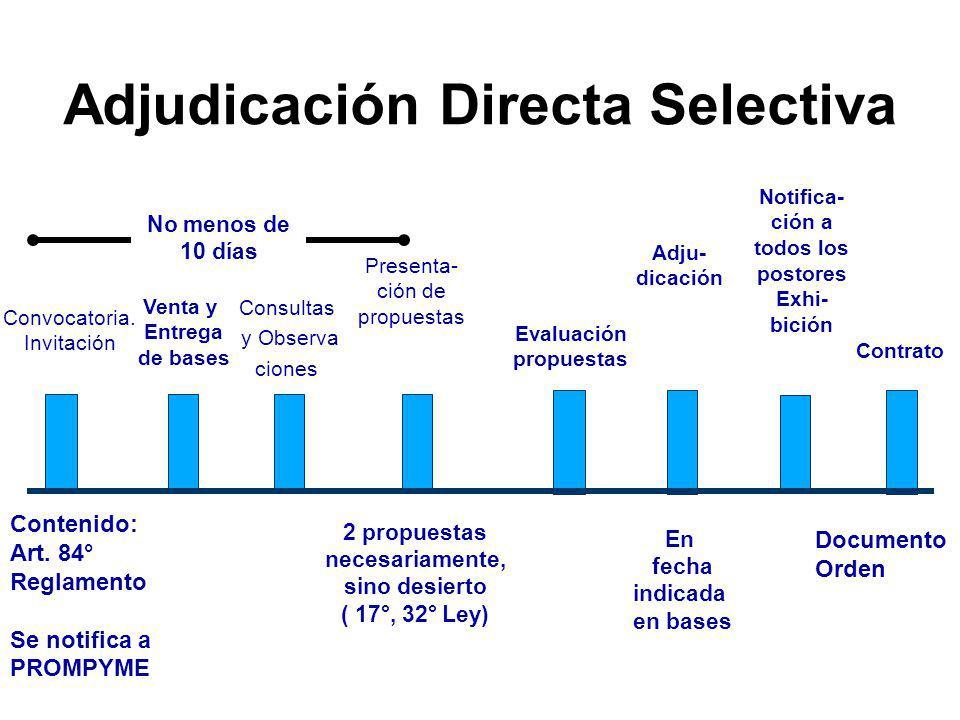 Comité Especial invita a ofrecer, otorgando plazo, cuando es necesario. Presentación de la oferta EvaluaciónAdjudicación Orden de compra o de servicio