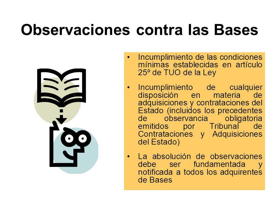 Presentación de Consultas, Absolución y Aclaración a las Bases Administrativas Etapa obligatoria (salvo para adjudicaciones de menor cuantía de bienes