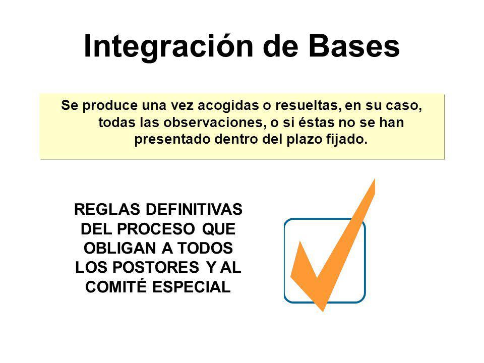 Efectos de la Absolución de Observaciones El Comité Especial puede: Acoger las observaciones formuladas Bases No acoger las observaciones formuladas C