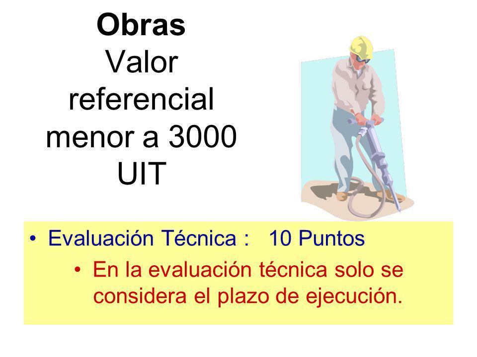 Factores de Evaluación Técnica OBRAS