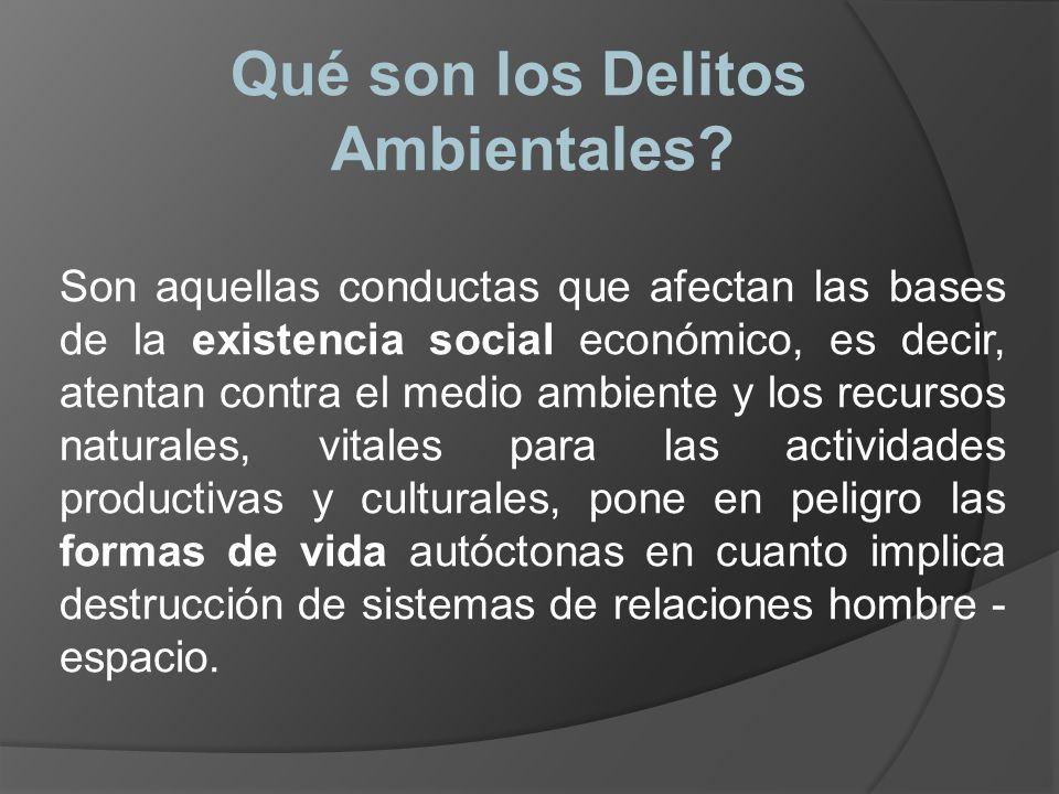 CODIGO PENAL TITULO XIII DELITOS AMBIENTALES 1.- DELITOS DE CONTAMINACIÓN 2.- DELITOS CONTRA LOS RECURSOS NATURALES